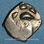 Monnaies Volques Tectosages. Région de Toulouse. Drachme à la tête cubiste, 1er siècle av. J-C