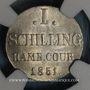 Monnaies Hambourg. Schilling 1851