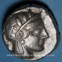 Monnaies Attique. Athènes (vers 415-407 av. J-C). Tétradrachme