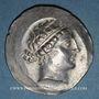 Monnaies Eolide. Cymé. 2e siècle av. J-C. Métrophanès, magistrat. Tétradrachme