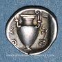 Monnaies Iles de Thrace. Thasos (vers 411-350 av. J-C). Trihémiobole