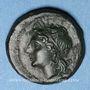 Monnaies Italie. Bruttium. Les Bruttiens. Bronze (1/4 d'unité),  214-211 av. J-C