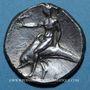 Monnaies Italie. Tarente. (vers 302-281 av. J-C). Deinokratès, magistrat. Didrachme