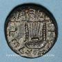 Monnaies Judée. 2e révolte juive - Révolte de Bar Kokhba (132-135). Moyen bronze an 1 (=132-133). 21,83 mm