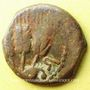 Monnaies Judée. Hérode Agrippa I (37-44). Petit bonze (prutah) an 6 (= 41-42). Jérusalem