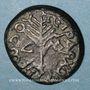 Monnaies Judée. Hérode Antipas (4 av. - 39 ap. J-C). Grand bronze an 34 (= 29-30 ap. J-C). Tibérias