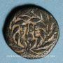 Monnaies Judée. Hérode Antipas (4 av. - 39 ap. J-C). Moyen bronze an 37 (= 33 ap. J-C). Tibérias