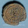 Monnaies Judée. Hérode le Grand (40- 4 av. J-C.). Petit bronze (prutah) an 3 (= 40 av J-C). Sébasté (Samarie)