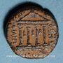 Monnaies Judée. Hérode Philippe II (Hérode Boëthos) (4 av. - 34 ap J-C). Bronze frappé sous Auguste an 12