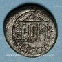 Monnaies Judée. Hérode Philippe II (Hérode Boëthos) (4 av. - 34 ap J-C). Bronze frappé sous Tibère, an 19