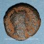 Monnaies Judée. Hérode Philippe II (Hérode Boëthos) (4 av. - 34 ap J-C). Bronze frappé sous Tibère, an 34