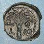 Monnaies Judée. Marcus Ambibulus (9-12) procurateur sous Auguste. Petit bonze (prutah) an 39 (= 9). Jérusalem