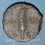 Monnaies Judée. Valérius Gratus (15-26), procurateur sous Tibère. Petit bonze (prutah) an 3 (= 16). Jérusalem