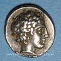Monnaies Macédoine. Olynthe. Ligue chalcidienne, vers 432-348 av. J-C. Tétrobole