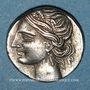 Monnaies Monnayage italo-punique (Calabre, Locres(?). 1/4 de shekel 213-203 av. J-C