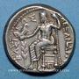 Monnaies Roy de Macédoine. Alexandre III le Grand (336-323 av. J-C). Tétradrachme. Amphipolis 318-317 av. J-C