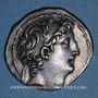 Monnaies Roy. de Syrie. Antiochus VIII Grypus (121-96 av. J-C) Tétradrachme. Acé-Ptolemaïs vers 115-113 av JC