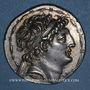 Monnaies Roy. de Syrie. Antiochus VIII Grypus (121-96 av. J-C) Tétradrachme. Acé-Ptolemaïs vers 120-117 av JC