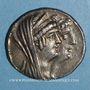 Monnaies Roy. de Syrie. Cléopatre Théa & Antiochus VIII Grypus (125-121 av. J-C). Tétradrachme. Sidon