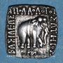 Monnaies Royaume de Bactriane, Apollodotes I (180-150 av. J-C), drachme de poids indien, Taxila