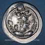 Monnaies Royaume sassanide. Péroz I (457-484). Drachme non datée, type III b / 1c. WH = Veh Antiok Shapur