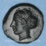 Monnaies Sicile. Entella. Vers 420-410/404 av. J-C. Bronze