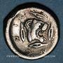Monnaies Sicile. Léontini (500-466 av. J-C). Didrachme