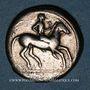 Monnaies Sicile. Léontini. Didrachme, 500-466 av. J-C