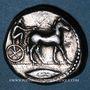 Monnaies Sicile. Messine. Tétradrachme, 470-466 av. J-C