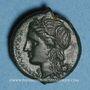 Monnaies Sicile. Syracuse. Hicetas (287-278 av. J-C). Bronze