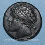 Monnaies Sicile. Syracuse. Hiéron II (275-216 av. J-C). Hémilitron