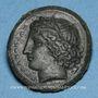 Monnaies Sicile. Syracuse. Règne d'Agathoclès (317-289 av. J-C). Ni, magistrat. Bronze