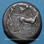 Monnaies Sicile. Syracuse. Tétradrachme, vers 480 av. J-C