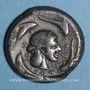 Monnaies Sicile. Syracuse. Tétradrachme, vers 485- 479 av. J-C