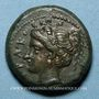 Monnaies Sicile. Syracuse. Timoleon (344-336 av. J-C). Bronze