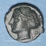 Monnaies Sicile. Syracuse (vers 405 av. J-C). Hémilitron attribué à Eukleidas