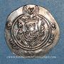 Monnaies Tabaristan. Gouverneurs Abbassides. Monnayage anonyme à la légende Abzüd. 1/2 drachme PYE 130