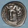 Monnaies Thessalie. Larissa. Vers 395-344 av. J-C. Drachme