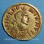 Monnaies Les Francs. Epoque de Childebert (534-558). Trémissis à la boucle perdue, au nom de Justinien I