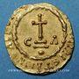 Monnaies Les Mérovingiens. Chalon-sur-Saône. Baudemares et Rignoaldus, monétaires. Trémissis
