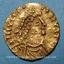 Monnaies Les Mérovingiens. Chalon-sur-Saône. Monnayage semi-impérial. Trémissis (560-580)