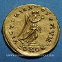Monnaies Les Mérovingiens. Royaume burgonde. Gondebaud (473-516). Trémissis au nom d'Anastase (473-507)