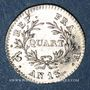 Monnaies 1er empire (1804-1814). 1/4 franc, tête nue, an 13 A