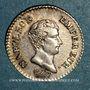 Monnaies 1er empire (1804-1814). 1/4 franc tête nue, an 13 A