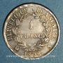 Monnaies 1er empire (1804-1814). 1 franc REPUBLIQUE 1808 A