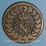 Monnaies 1er empire (1804-1814). 1er blocus de Strasbourg 1814. 1 décime 1814 BB. Points après DECIME et 1814