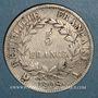 Monnaies 1er empire (1804-1814). 5 francs REPUBLIQUE 1808A