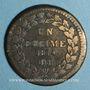 Monnaies 1ère Restauration (1814-15). 1er Blocus Strasbourg 1814. Décime 1814 BB. Points après DECIME et 1814