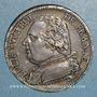 Monnaies 1ère restauration. Louis XVIII (1814-15). 5 francs buste habillé 1814B. Rouen