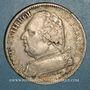 Monnaies 1ère restauration. Louis XVIII (1814-15). 5 francs buste habillé 1815K. Bordeaux